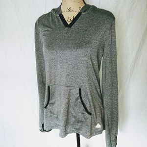 Large, RBX, Gray, Lightweight Athletic Hoodie